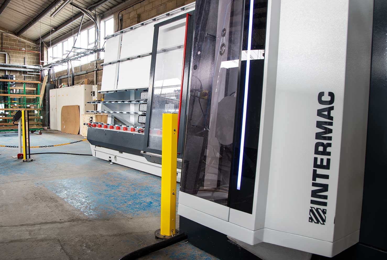 New Intermac Vertmix CNC glass processing machine