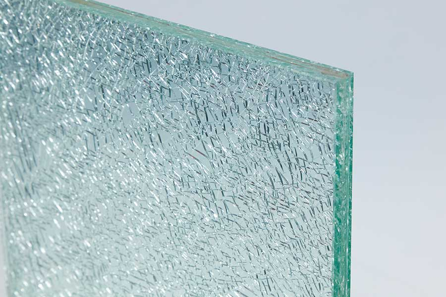 example of shattered laminated glass