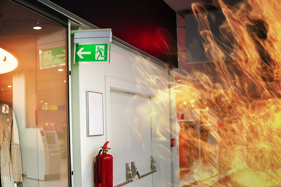 Fire rated glass in an office environment